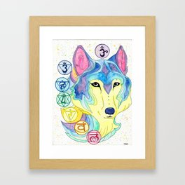 Chakra Wolf Framed Art Print