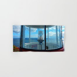 Lighthouse and Sea Beyond, seen from the Balcony Hand & Bath Towel