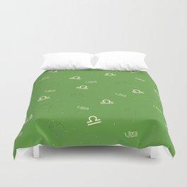 Libra Pattern - Green Duvet Cover