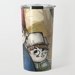 Over the Garden Wall Watercolor Painting Travel Mug