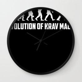 Krav Maga Evolution Martial Arts Wall Clock