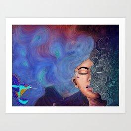 Psychedelic Landscapes Art Print
