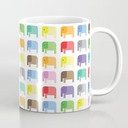 colored elephants pattern Coffee Mug