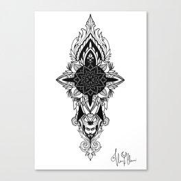 Satyr Grey version Mandala Canvas Print