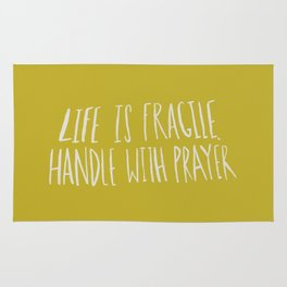 Handle with Prayer x Mustard Rug
