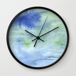 Blue green blurred Wall Clock