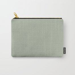Soft Pastel Sage Green Gray Solid Color Pairs To Behr's 2021 Trending Color Jojoba N390-3 Carry-All Pouch