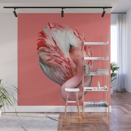 Sleeping Flamingo (flamingo pink) Wall Mural