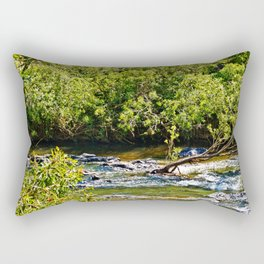 Beautiful river running over rocks Rectangular Pillow