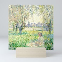 Woman Seated under the Willows - Claude Monet Mini Art Print