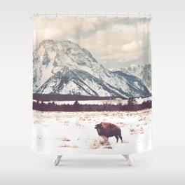 Bison & Tetons Shower Curtain