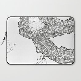 The ring of the Hesitate.(Line) Laptop Sleeve