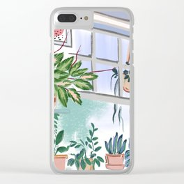 House Plants Illustration 011 Clear iPhone Case