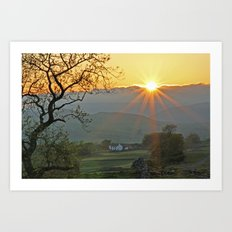 Sundown At Malhamdale Art Print