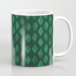Emerald Green Diamonds Coffee Mug