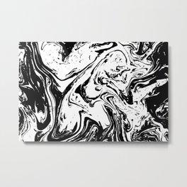 Black liquid ink 10 Metal Print