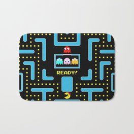 pac-man blue Bath Mat