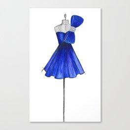 Big Bow Fashion illustration  !! Canvas Print