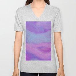 Modern abstract teal magenta violet watercolor pattern Unisex V-Neck