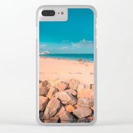 South Pointe Beach Clear iPhone Case
