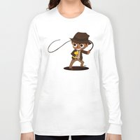 indiana jones Long Sleeve T-shirts featuring Indiana Jones by Delucienne Maekerr