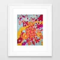 mad Framed Art Prints featuring MAD by Piktorama