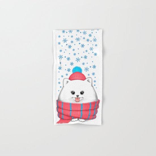 winter dog Hand & Bath Towel