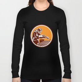 Sandblaster Sandblasting Hose Circle Retro Long Sleeve T-shirt
