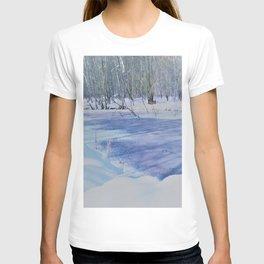 winter landscape aquarell T-shirt