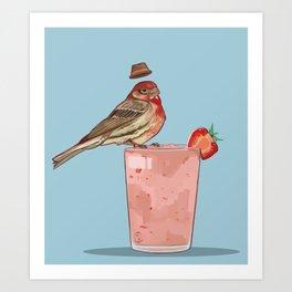Strawberry Finch Art Print
