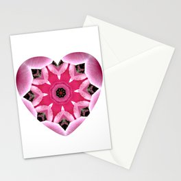 Mandala Heart Stationery Cards