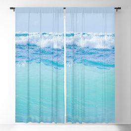 Kapukaulua Pure Blue Surf Blackout Curtain