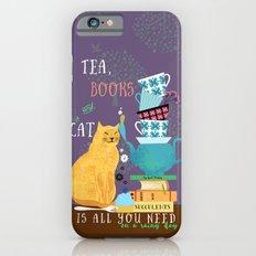Tea, Books and Cats iPhone 6s Slim Case