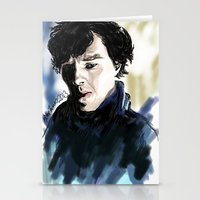 sherlock holmes Stationery Cards featuring Sherlock Holmes by Abbie James