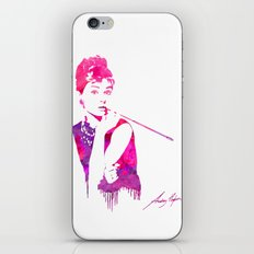 Audrey Stencil iPhone & iPod Skin