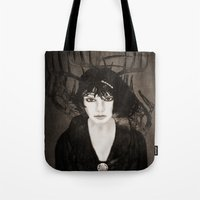 melissa smith Tote Bags featuring Melissa by Viviana Gonzalez