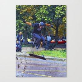 Kickflip  -  Skateboarder Canvas Print
