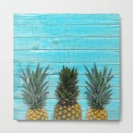 Pineapple summer Metal Print