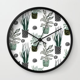 Plant lover Wall Clock