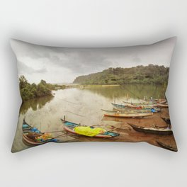 Fishing port in Goa, India Rectangular Pillow
