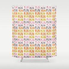 Pattern Project #19 / Run Run Run Shower Curtain