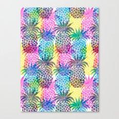 Pineapple CMYK Repeat Canvas Print