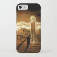 good omens iPhone & iPod Cases featuring Good Omens: Too Fine a Point by Katerina Romanova