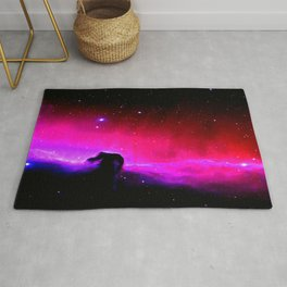 Galaxy : Horsehead nEbUlA Pink Red Purple Rug