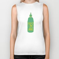 sriracha Biker Tanks featuring Sriracha, The hot sauce boss  by Tricia Robinson