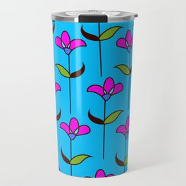 Genevieve - Blue and Pink Travel Mug