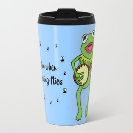 Kermit having fun Travel Mug