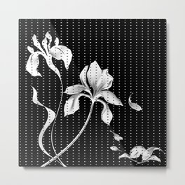 Iris on Black Metal Print
