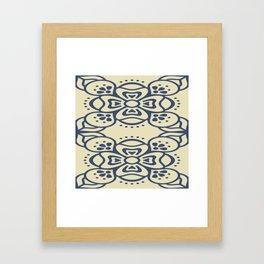 Blue On White Boho Design Framed Art Print