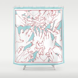 Helping Hands Shower Curtain